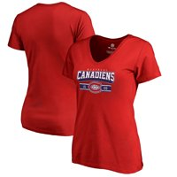 Montreal Canadiens Fanatics Branded Women's Fan Favorite Team Slogan V-Neck T-Shirt - Red