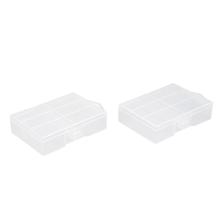 Unique Bargains 2 Pcs Clear Plastic Case Holder Storage Box Container for 24 x AAA Battey - image 4 of 4