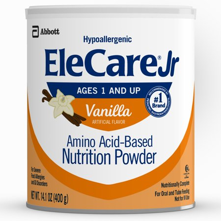 EleCare Jr Nutrition Powder, Complete Nutrition For Children Age 1 And Older With Severe Food Allergies, Amino Acid-based Nutrition Powder, Vanilla, 14.1 oz, 6