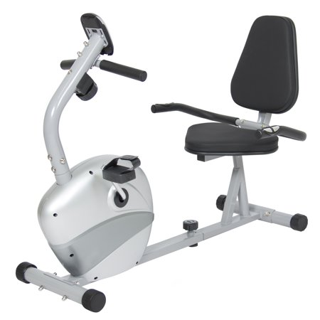 Best Choice Products Stationary Recumbent Exercise Bike Fitness Equipment w/ Magnetic Resistance and Pedals -
