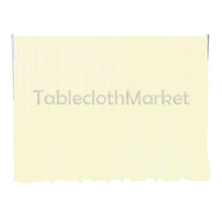 "8 x 5 ft Backdrop Background FOR PIPE AND DRAPE DISPLAYS Polyester 24 COLORS"", (Color: Ivory)"