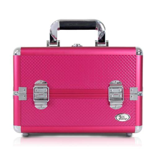 Jacki Design  Hot Pink Aluminum 7-inch Carry-on Makeup Case