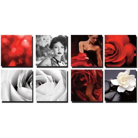 BEAUTY 8 Pc Beauty Salon Spa Massage Decal Decoration 24 x 24 Canvas Mural CM-SB - Salon Decorations