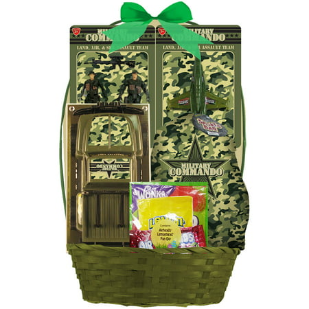 Military Commando Easter Basket With Candy  7 Pc