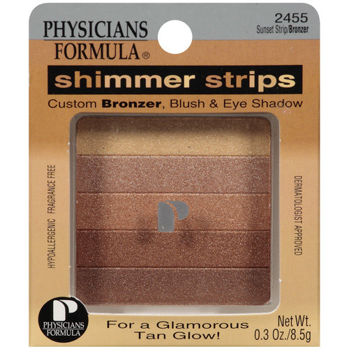 Physicians Formula Shimmer Strips Custom Bronzer, Blush and Eye Shadow, Sunset Strip 2455