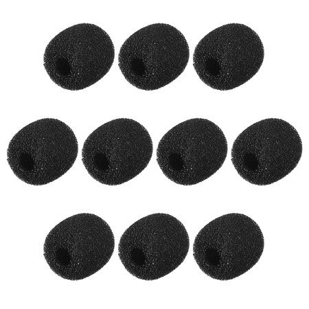 10 PCS Foam Mic Cover Headset Microphone Windscreen Shield Protection 17mm Length for Headset Lapel