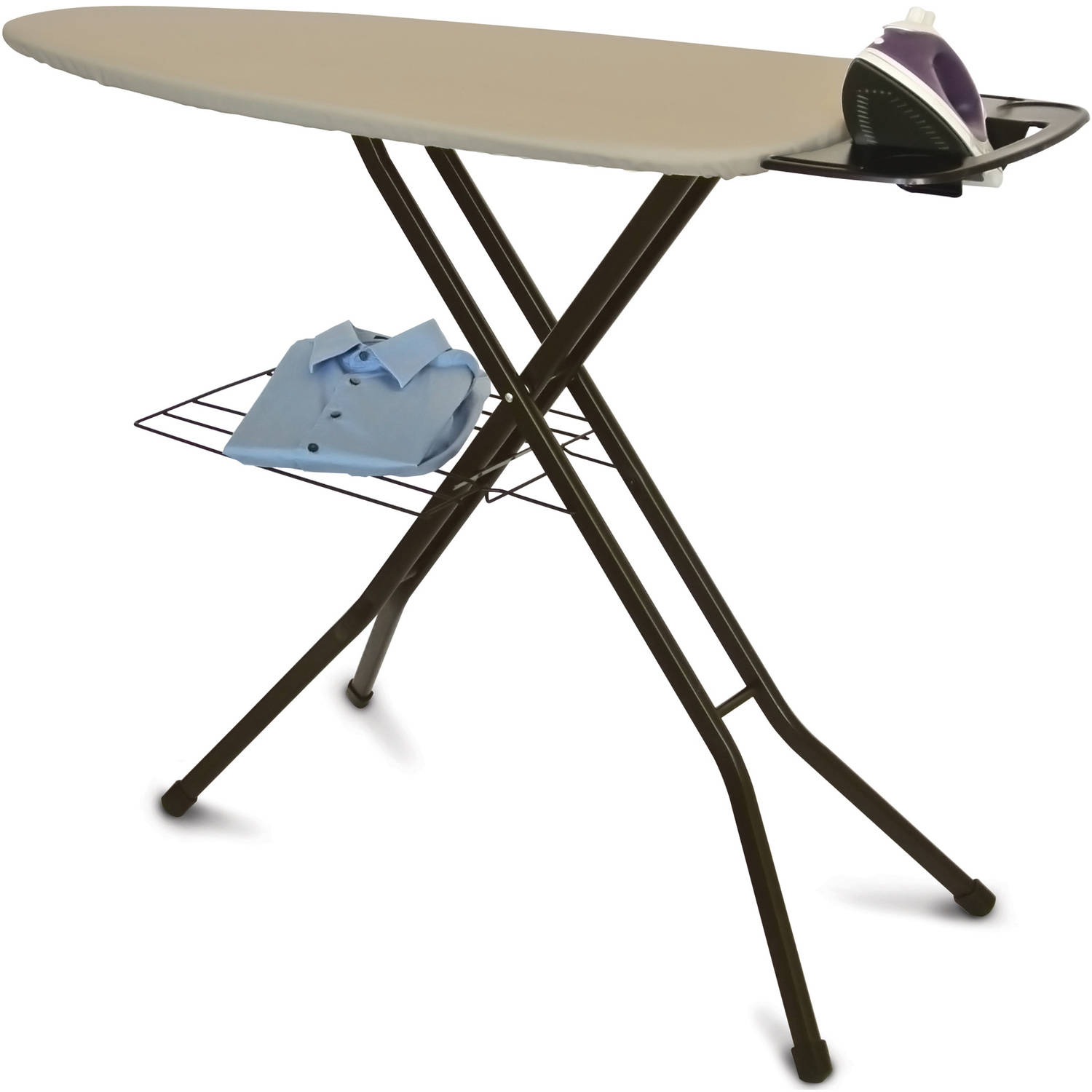 Better Homes and Gardens Wide Top Ironing Board, Khaki