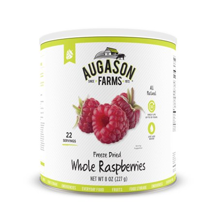 Augason Farms Freeze Dried Whole Raspberries 8 oz No. 10 (Freeze Dried Raspberries)