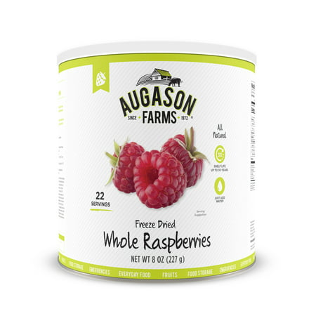 Augason Farms Freeze Dried Whole Raspberries 8 oz No. 10 (Freeze Dried Raspberries)