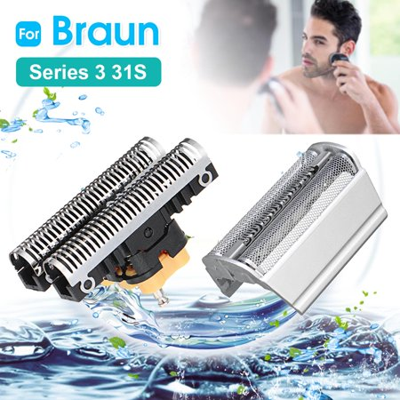 Shaver Foil + Cutter Blade For Braun 31S 31B 5000 6000 Series 3 350-390CC 5612 5770 6520 (Braun Series 3 Replacement Foil And Cutter)