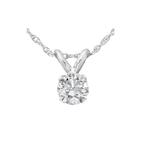 Pompeii3 1/4ct Solitaire Diamond Pendant 14K White Gold Cosmopolitan Diamond Pendants