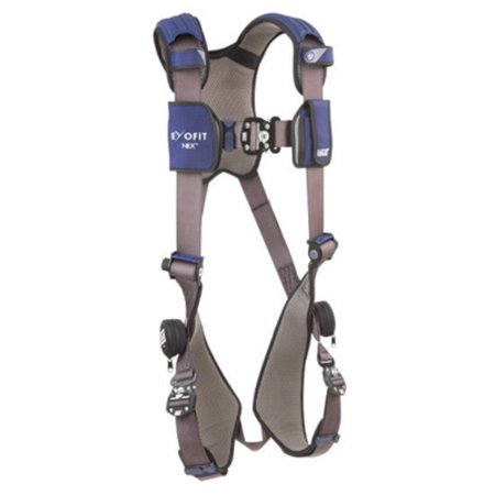 Tek Lok Belt Loop System - DBI/SALA Medium ExoFit NEX Full Body/Vest Style Harness With Tech-Lite Back D-Ring, Duo-Lok Quick Connect Chest And Leg Strap Buckle, Loops For Body Belt And Comfort Padding