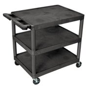 LUXOR STC222-B Utility Cart, 300 lb. Load Cap., PE