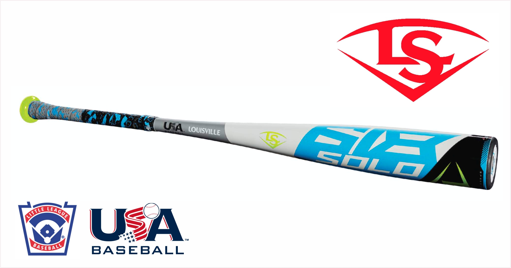 New Louisville Solo 618 WTLUBS618B11 31 20 USA Youth Baseball Bat 2 5 8 by Louisville Slugger