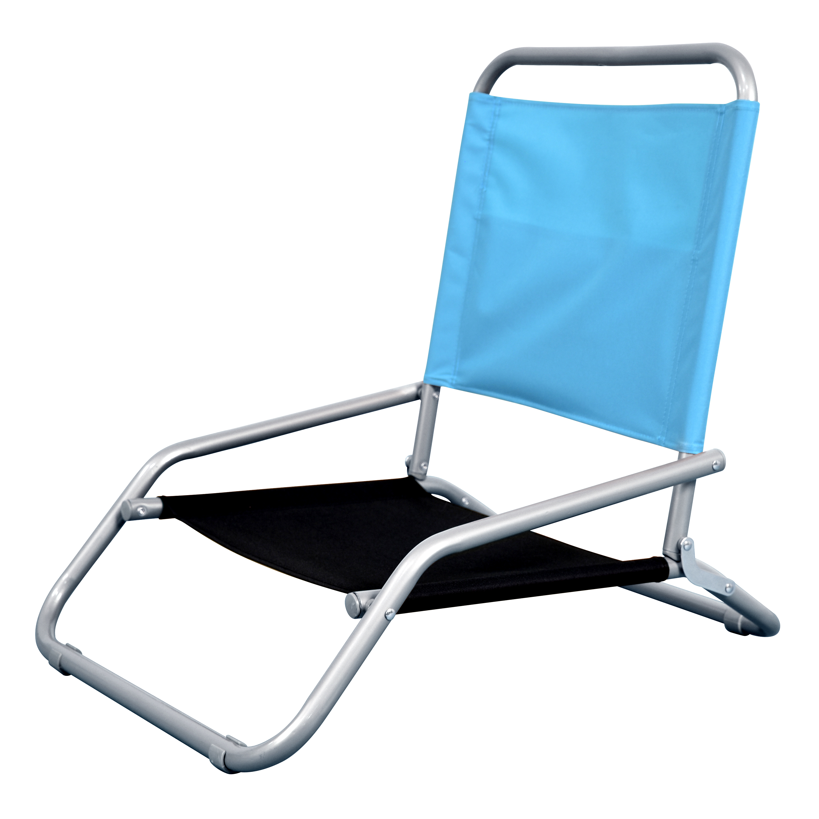 Astella's Oasis Sling-Back Chair in Blue and Black