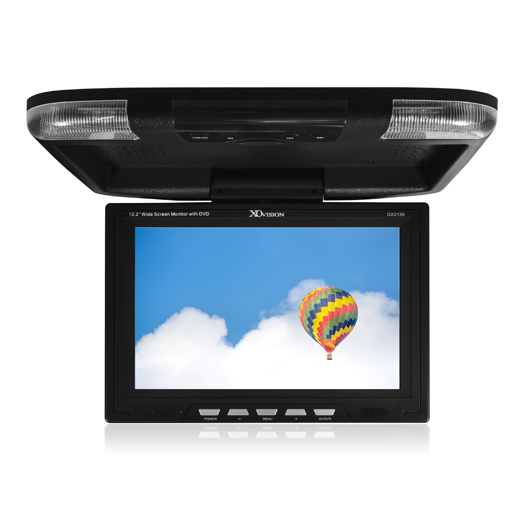 """Xo Vision Gx2156b 12.2"""" Ceiling-mount Lcd Monitor With Ir Transmitter"""