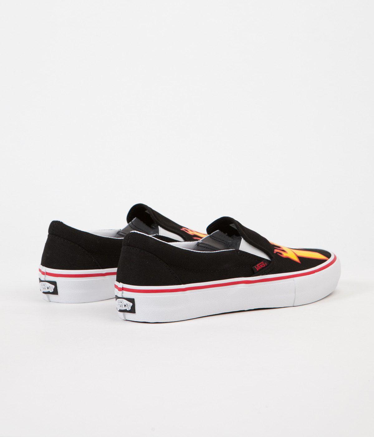 Vans x Thrasher Slip-On Pro (Thrasher Black) Men's Skate Shoes-11.5