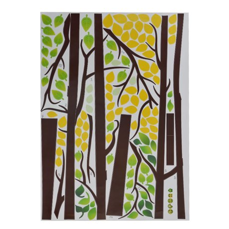 S jour arbre photo pvc bricolage imprimer ornement mur for Autocollant mural walmart