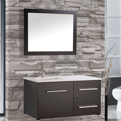 MTD Vanities Nepal 41'' Single Sink Wall Mounted Bathroom Vanity Set with Mirror