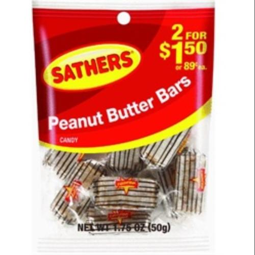 Sathers Peanut Butter Bar 12 pack (1.75oz per pack) (Pack of 2)