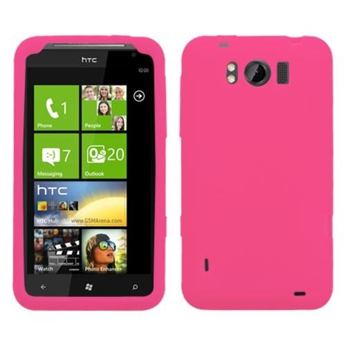 Insten Solid Skin Case (Hot Pink) for HTC: X310a (TITAN)