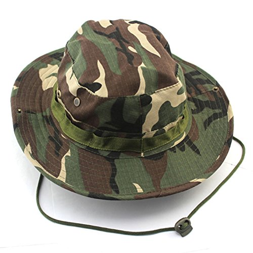 Fishing Snap Brim Military Bucket Sun Hat Cap Woodland Camo Alternative Color