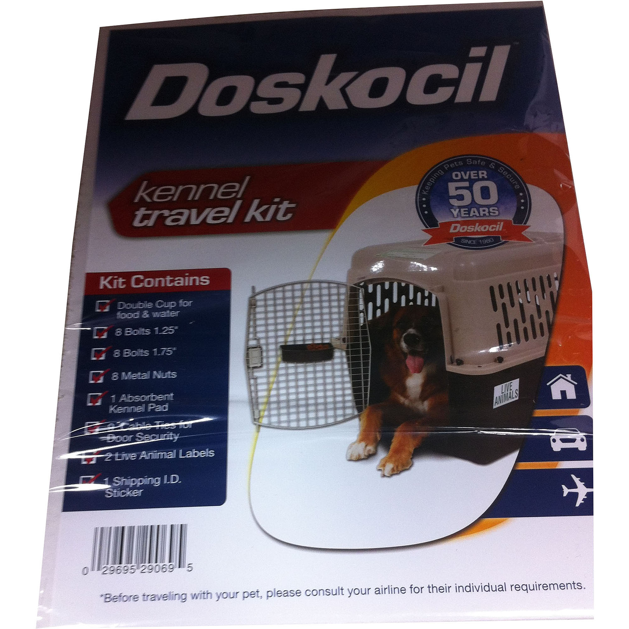 Doskocil Airline Travel Kit for Pets