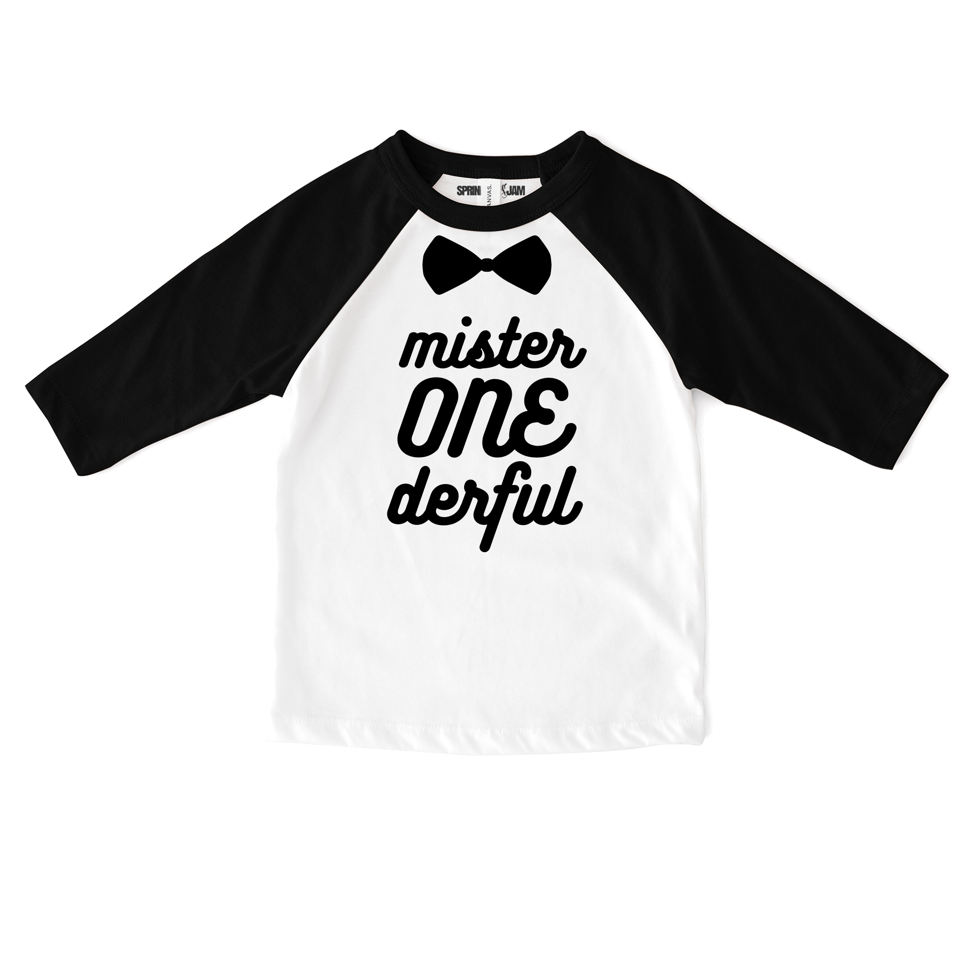 "Sprinkles And Jam ""Mr Onederful"" 1st Birthday Boy Shirt Raglan Birthday Outfit"