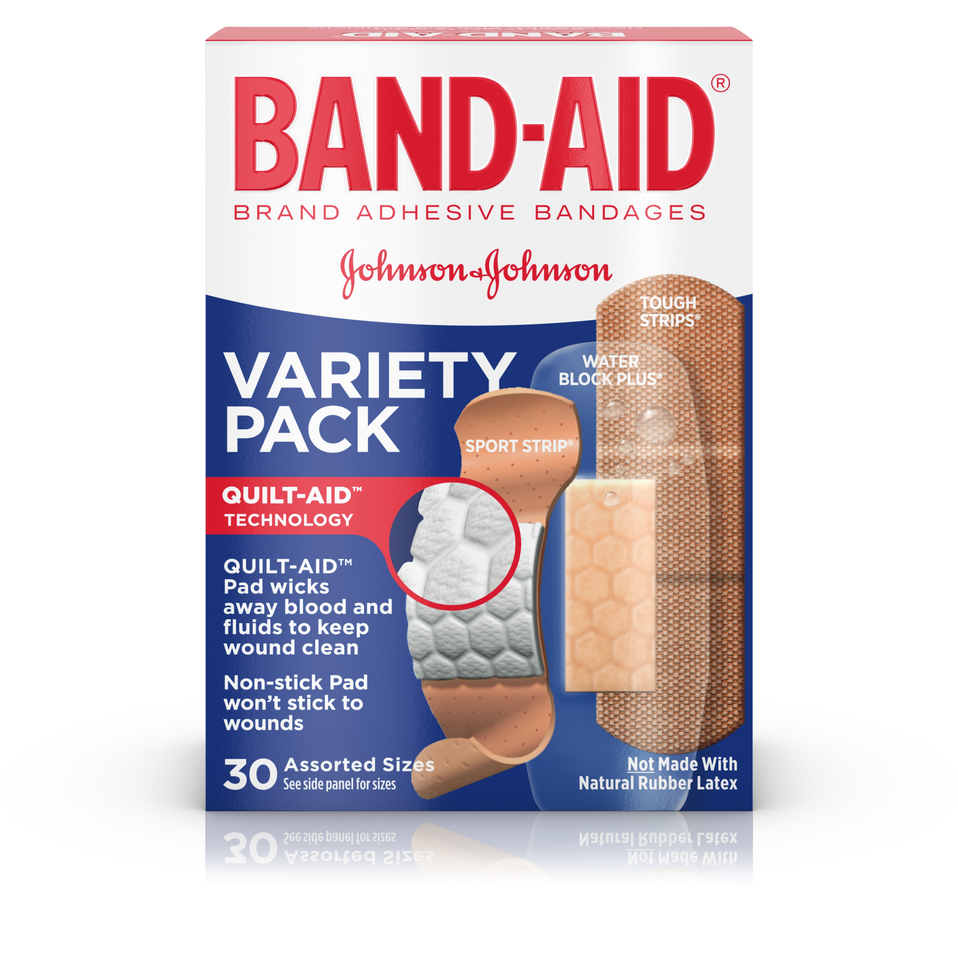 Band-Aid Brand Active Lifestyles Adhesive Bandage Variety Pack, 30 ct