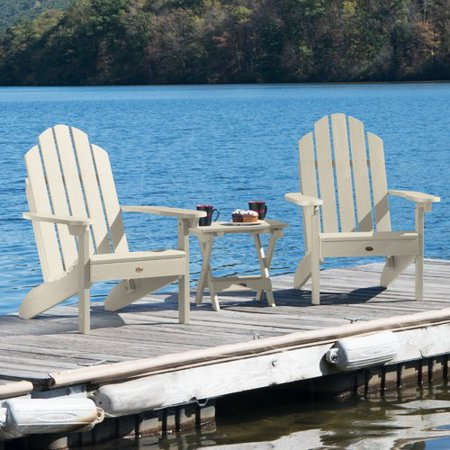 Alcott Hill Highpoint Plastic Folding Adirondack Chair Set With Table