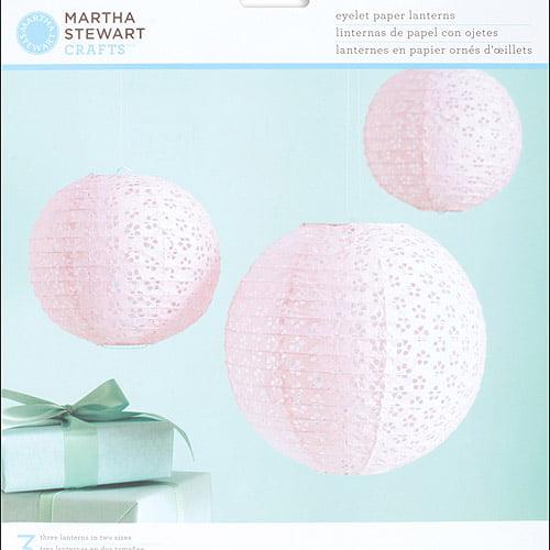 Martha Stewart Crafts Vintage Girl Paper Lanterns Kit, Pink Eyelet