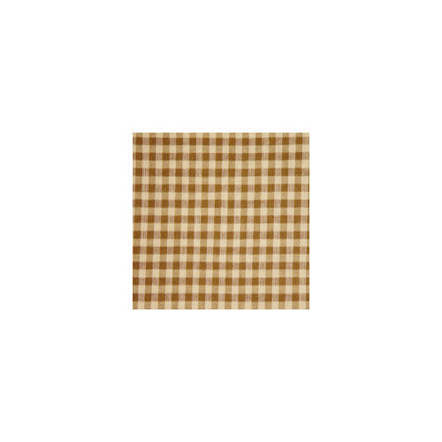 Patch Magic Brown and Golden Checks Curtain Panels (Set of 2)