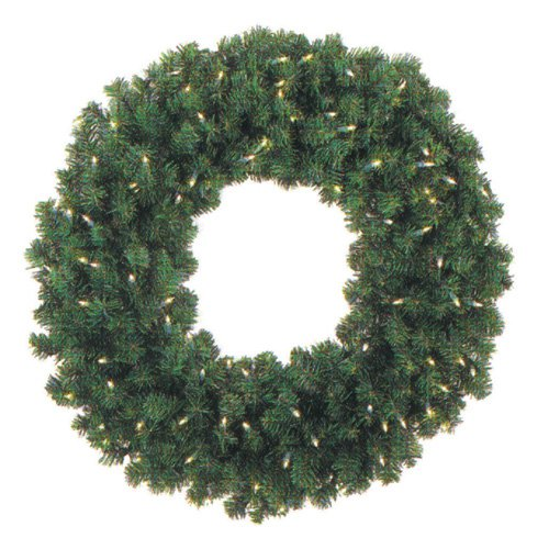 48 in. Pre-lit Christmas Wreath