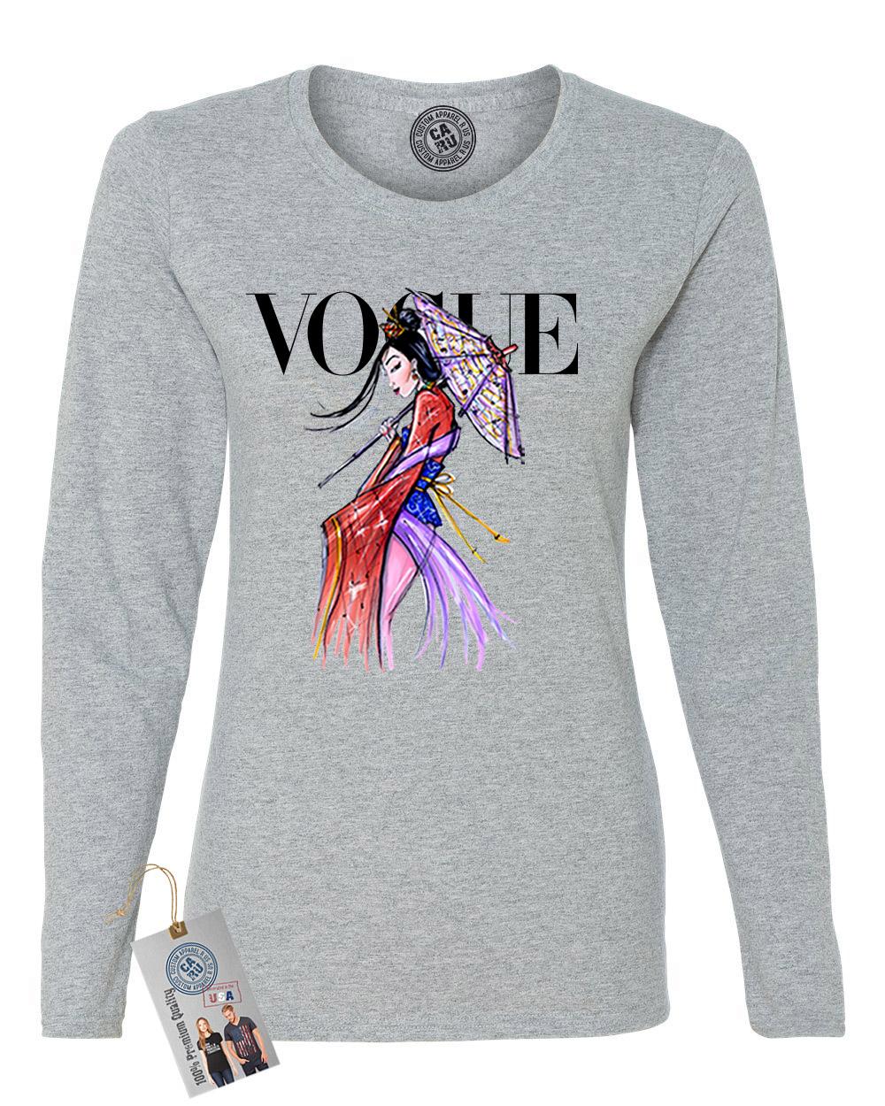 Custom Apparel R Us Vogue Princess Shirt Mulan Womens Long Sleeve