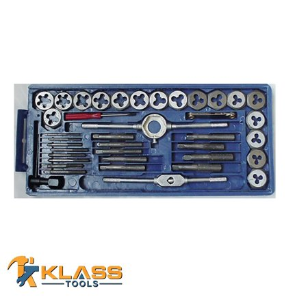 Tap Threading Die - 40PC Tap & Die Set SAE