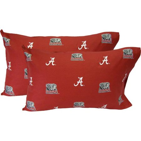 Alabama Printed Pillow Case- Set of 2- Solid - image 1 of 1