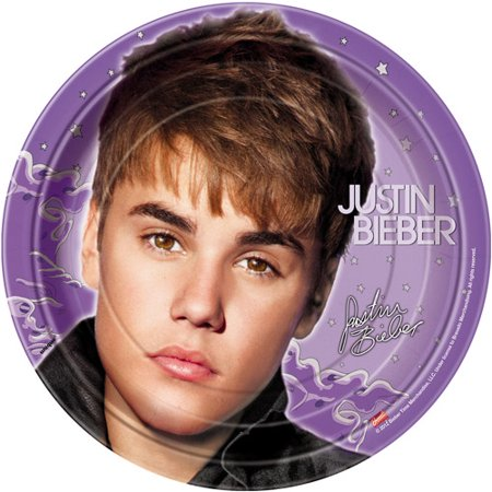 Justin Bieber New Large Paper Plates (8ct) - Justin Bieber Fan Halloween Costumes