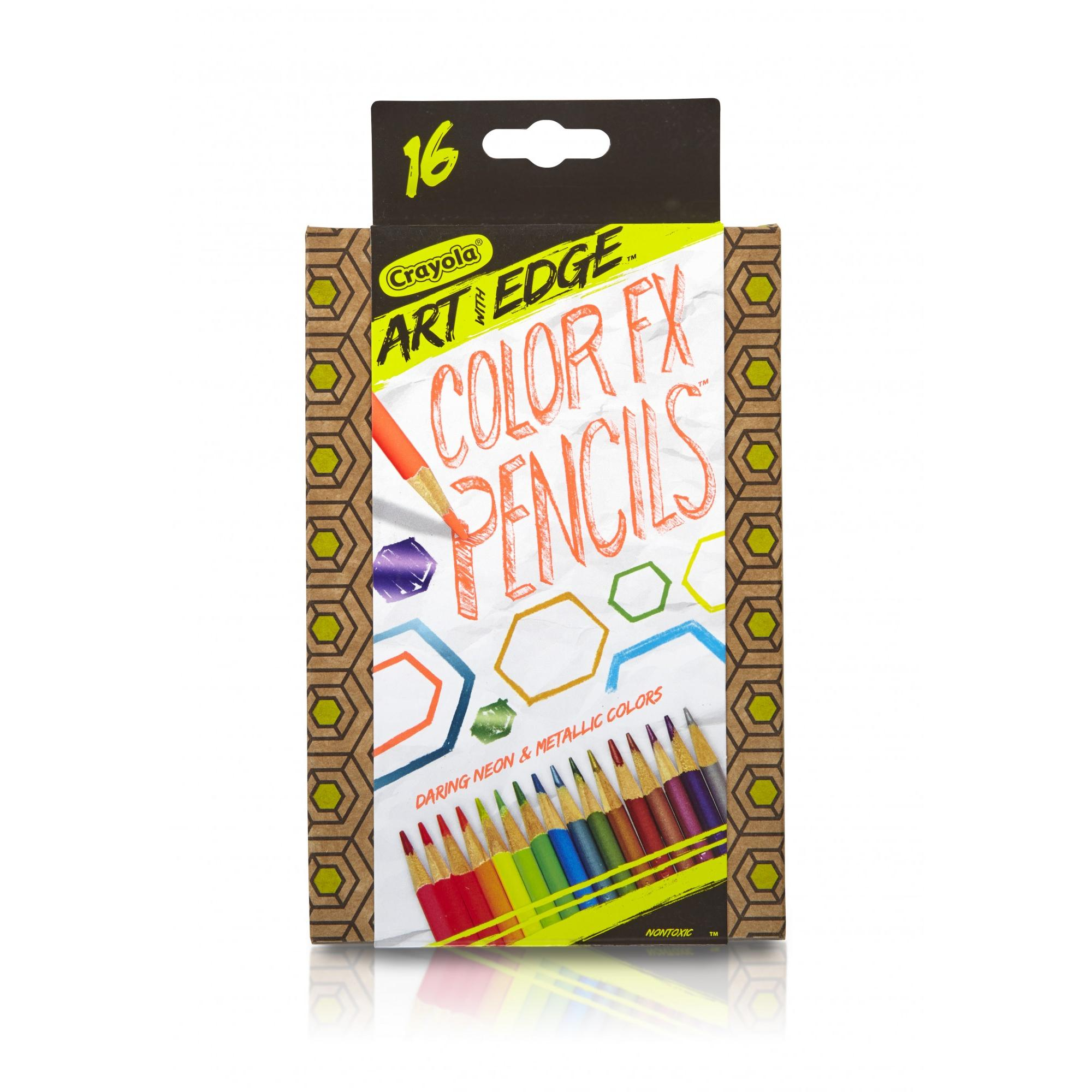 Crayola Art with Edge Neon & Metallic Colored Pencils, 16 Count by Crayola