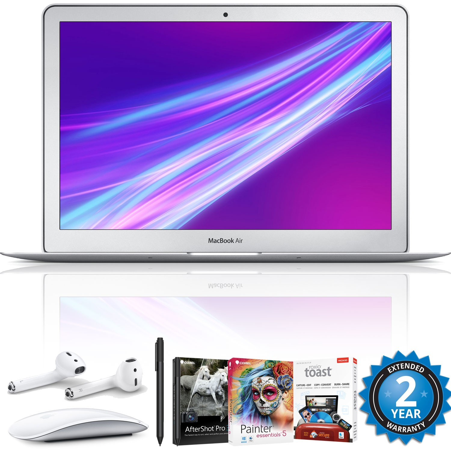 "Apple 13.3"" MacBook Air (Mid 2017, Silver) 128GB Hard Drive SSD Artist Kit"