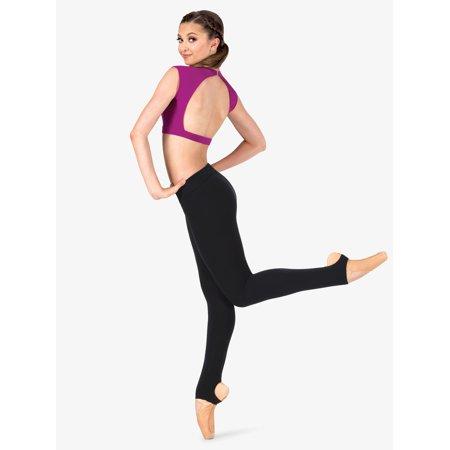 Womens Plus Size Sueded Cotton Basic Dance Stirrup - Plus Size Belly Dance Clothes
