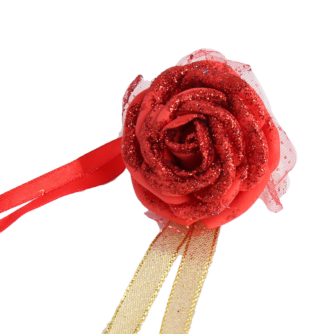 Wedding Party Foam Rose Shaped Bridesmaid Hand Decor Artificial Wrist Flower Red