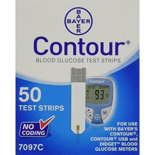 Bayer Contour Blood Glucose Test Strips, 50 Ct