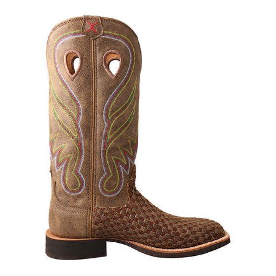 Best Wholesale For Sale Very Cheap Twisted X Boots WRS0026 Ruff Stock Cowboy Boot(Women's) -Bomber/Brown Leather Clearance Store For Sale Great Deals Cheap Online Geniue Stockist Cheap Price ozNH5lgi