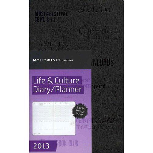 Moleskine 2013 12 Month, Passion Planner - Life & Culture, Large, Black, Hard Cover (5 X 8.25)