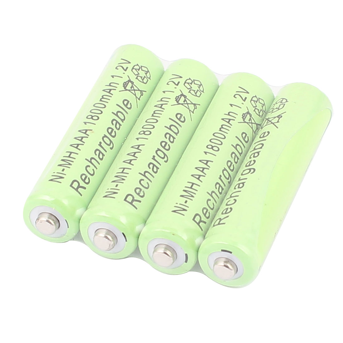 4 Pcs Ni-MH AAA 1800mAh 1.2V Rechargeable Batteries Ultra cell Battery Green