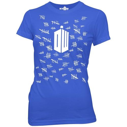Doctor Who Tally Marks Women's Junior Fit T-Shirt
