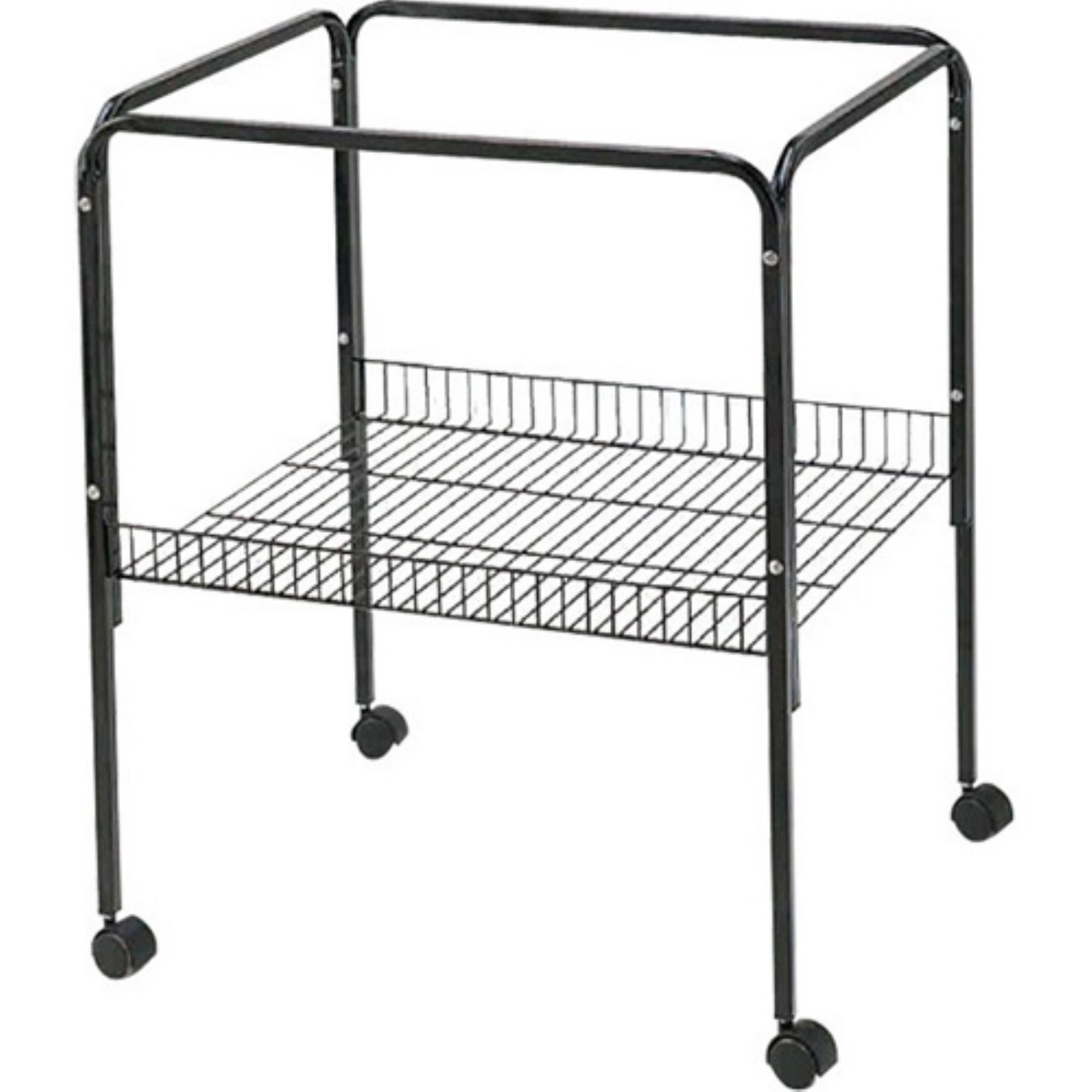 Image of A and E Cage Co. Black Bird Cage Stand