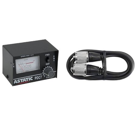 ASTATIC PDC7 SWR CB RADIO TEST METER WITH 3' JUMPER