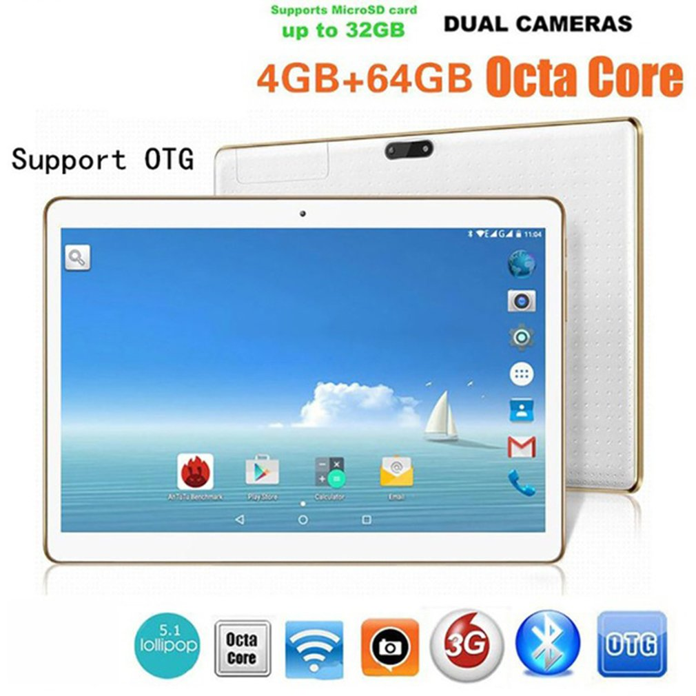 LESHP Upgrated 10 1 Inch Tablet PC RAM 4G ROM 64G Dual Card Dual Camera