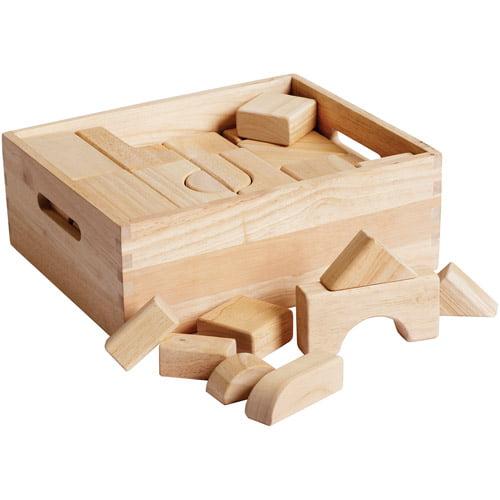 Hardwood Building Blocks, 64pc